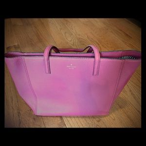 Plum Berry Leather Kate Spade Zipper Tote